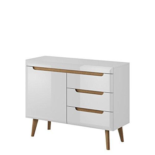 kommode nordi nksz107 im skandinavischen stil 3 schubladen anrichte mehrzweckschrank. Black Bedroom Furniture Sets. Home Design Ideas