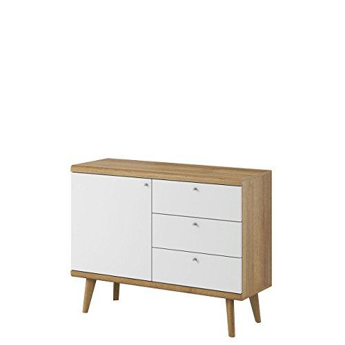 kommode primo pksz107 im skandinavischen stil 3 schubladen anrichte mehrzweckschrank. Black Bedroom Furniture Sets. Home Design Ideas