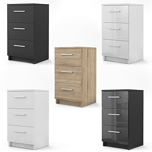 nachtkommode f r boxspringbett 2 er set 66cm hoch nachtschrank nachttisch kommode schrank. Black Bedroom Furniture Sets. Home Design Ideas