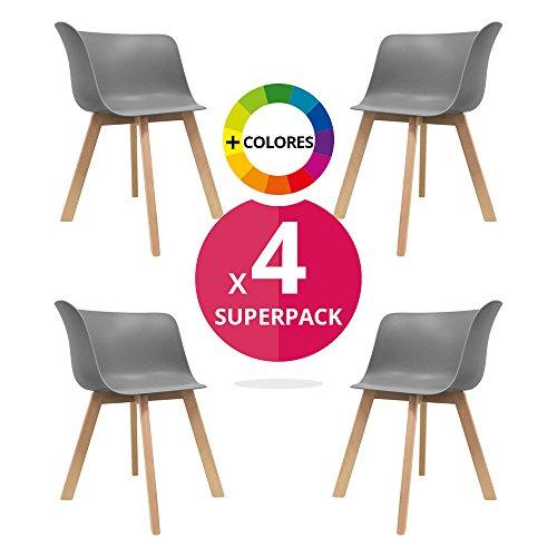Stuhl skandinavischer bettbezug pack 4 stuhl stuhl for Stuhle nordic design