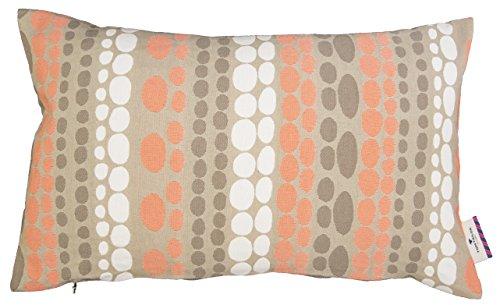 TOM TAILOR 562459 Kissenhülle T-Pastel Dots, 30 x 50 cm, orange / taupe