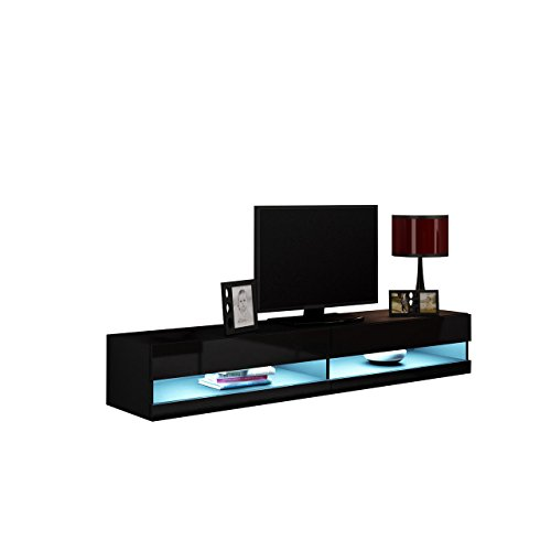 tv lowboard vigo new 180 cm tv tische tv schrank fernsehschrank h ngeschrank hochglanz mit. Black Bedroom Furniture Sets. Home Design Ideas