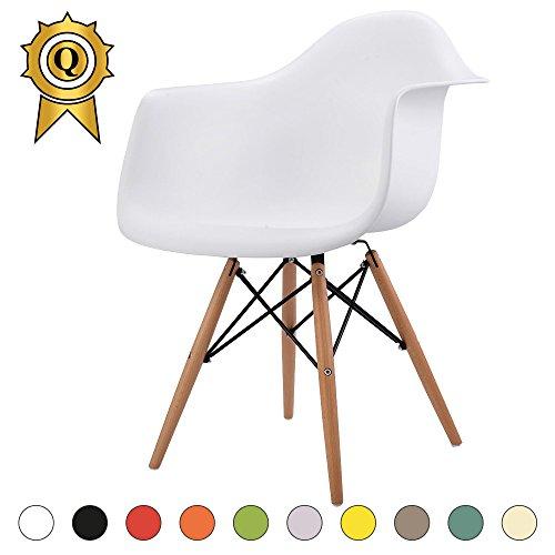 verkauf 1 x design stuhl eiffel stil natural wood beine und sitz farbe wei mobistyl dawl wh 1. Black Bedroom Furniture Sets. Home Design Ideas