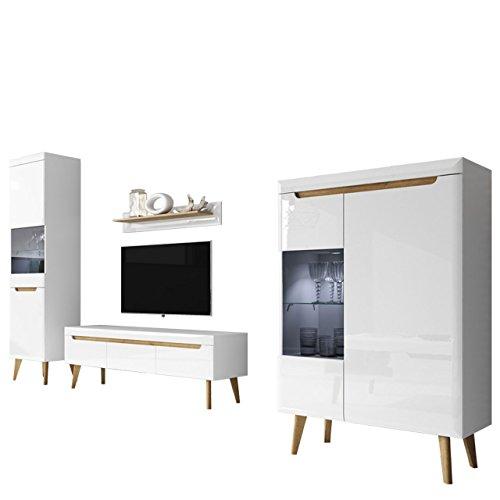 wohnzimmer nordi ii elegantes wohnzimmer set im. Black Bedroom Furniture Sets. Home Design Ideas