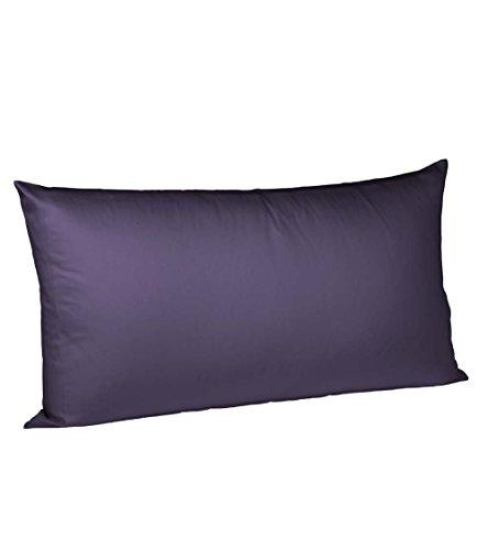 fleuresse Kissenbezug colours 9100-4580, 40x80 cm, Mako Satin, Farbe Dunkelrot, 100% Baumwolle, mit Reißverschluss