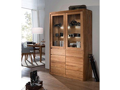 astoria vitrine gro wildeiche massiv ge lt skandinavische m bel. Black Bedroom Furniture Sets. Home Design Ideas