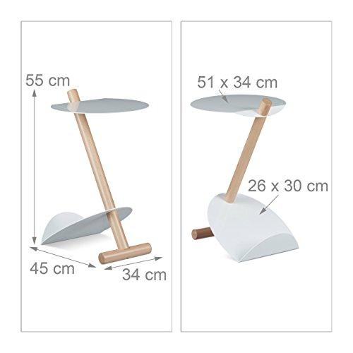 relaxdays beistelltisch mit zeitungsst nder metall holz. Black Bedroom Furniture Sets. Home Design Ideas