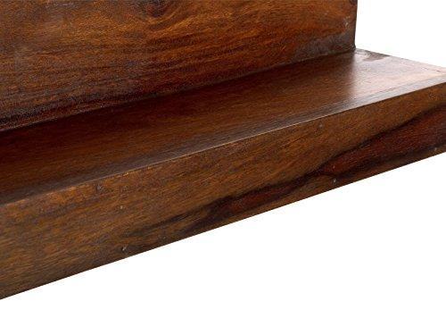 massivum Regal Monrovia 110x16x16 cm Palisander braun lackiert