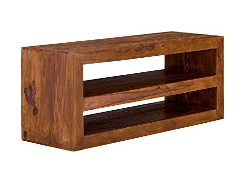 massivum TV-Schrank Cube 130x55x45 cm Palisander braun gewachst
