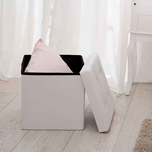 tectake 38x38x38 cm faltbarer sitzhocker sitzw rfel mit stauraum kunstleder diverse farben. Black Bedroom Furniture Sets. Home Design Ideas