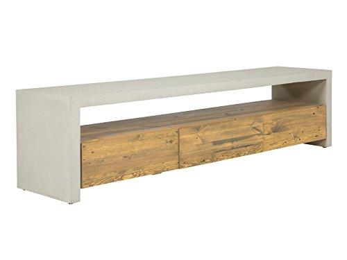 massivum gladstone tv bank holz natur 40 x 180 x 46 cm skandinavische m bel. Black Bedroom Furniture Sets. Home Design Ideas