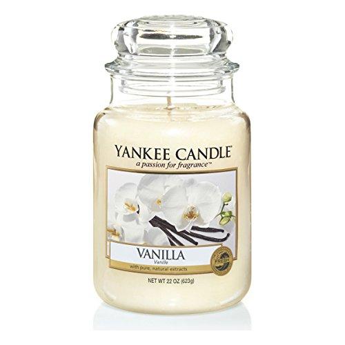 Yankee Candle 1507743E Classic-Vanilla Duftkerze Glas 9,80 x 9,80 x 17,50 cm, cremeweiß