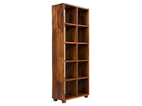 massivum Bücherschrank Cube 80x200x35 cm Palisander braun gewachst