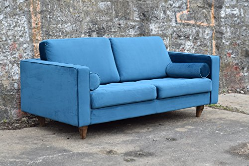 sofa venice vintage samt blau 2 sitzer 190 skandinavische m bel. Black Bedroom Furniture Sets. Home Design Ideas