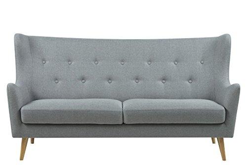 Retro Sofa Kamma 3-Sitzer Hellgrau