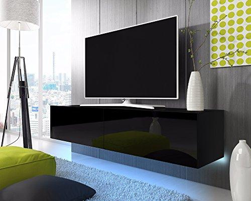 tv schrank lowboard h ngeboard simple mit led blau. Black Bedroom Furniture Sets. Home Design Ideas