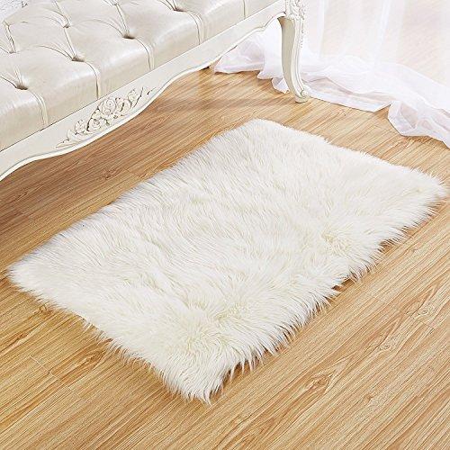 faux lammfell schaffell teppich 80 x 150 cm wohnzimmer. Black Bedroom Furniture Sets. Home Design Ideas