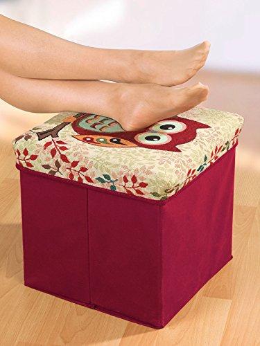 avena sitzhocker mit stauraum eule rot skandinavische m bel. Black Bedroom Furniture Sets. Home Design Ideas