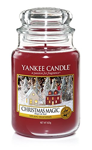 Yankee Candle Weihnachtszauber, Kerze (Großes Glas), Rot, 10,7 x 10,7 cm