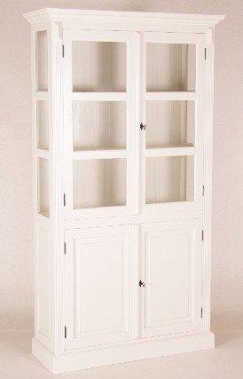 Casa Padrino Shabby Chic Landhaus Stil Schrank Buffetschrank Weiß B 110 x H 200 cm - Schrank Esszimmer