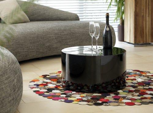 salesfever kubus couchtisch rund hochglanz d 60 x h 30cm. Black Bedroom Furniture Sets. Home Design Ideas