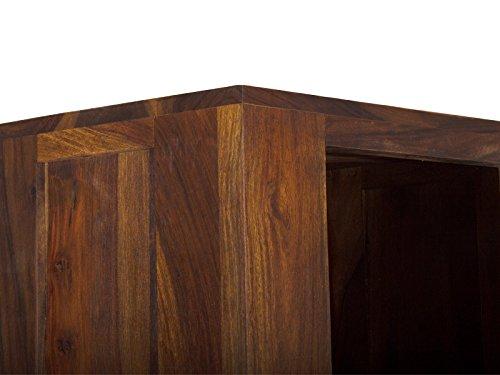 massivum Regal Monrovia 50x178x35 cm Palisander braun lackiert