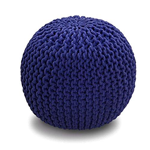 homescapes sitzhocker strickpouf rund marineblau. Black Bedroom Furniture Sets. Home Design Ideas