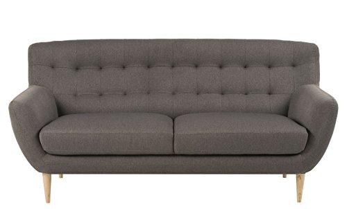 Retro Sofa Absalon Oswald 3-Sitzer Grau