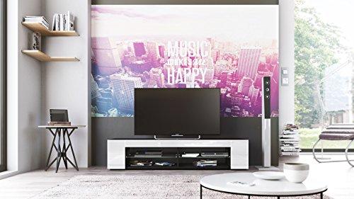 tv board lowboard movie korpus in schwarz matt fronten in wei hochglanz skandinavische m bel. Black Bedroom Furniture Sets. Home Design Ideas