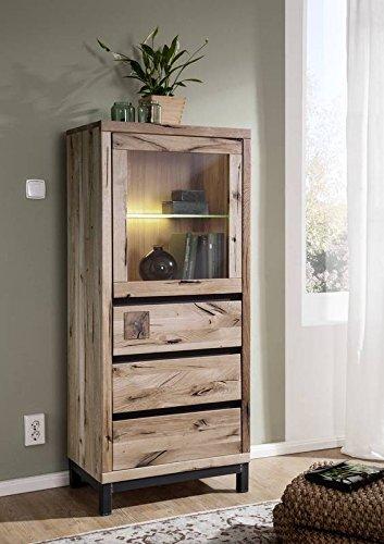 vitrine wildeiche 65x40x148 bianco ge lt villanders 203 modern skandinavische m bel. Black Bedroom Furniture Sets. Home Design Ideas