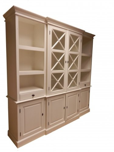 Großer Shabby Chic Landhaus Stil Schrank mit 4 Türen - Buffetschrank - Schrank Esszimmer