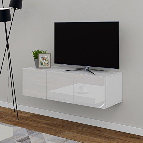 vicco tv lowboard sideboard wandschrank fernsehschrank wohnwand h ngeschrank wei hochglanz. Black Bedroom Furniture Sets. Home Design Ideas
