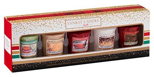 Yankee Candle 1521553 Holiday Party 5 Votive Gift Set Geschenkset 5 Votivkerzen, Mehrfarbig, 4.7 x 4.7 x 5 cm