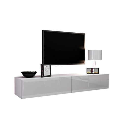 tv schrank vigo fernsehschrank tv lowboard mit grifflose ffnen h ngeschrank hochglanz matt. Black Bedroom Furniture Sets. Home Design Ideas