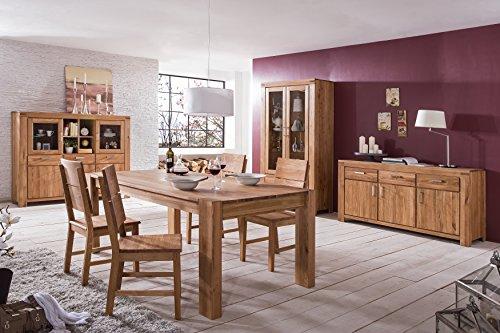 vitrine wildeiche massiv ge lt mit durchgehenden lamellen 2863 homeforyou24 skandinavische m bel. Black Bedroom Furniture Sets. Home Design Ideas
