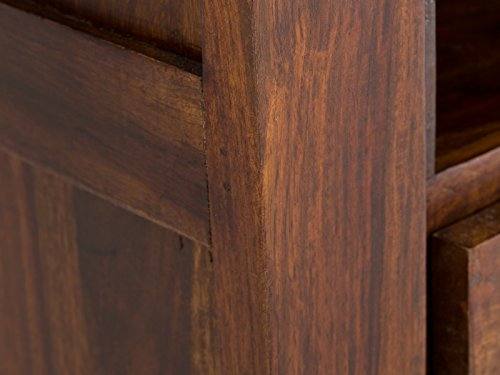 massivum Regal Manora 60x178,5x45 cm Palisander braun lackiert