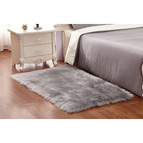 faux lammfell schaffell teppich 50 x 150 cm flauschig. Black Bedroom Furniture Sets. Home Design Ideas