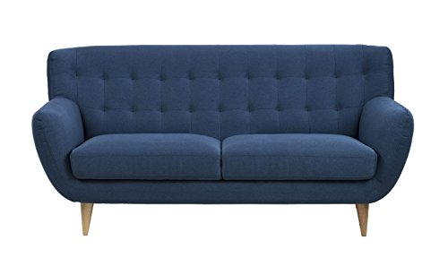 retro sofa absalon oswald 3 sitzer dunkelblau skandinavische m bel. Black Bedroom Furniture Sets. Home Design Ideas