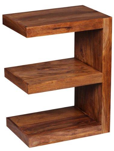 Wohnling beistelltisch massivholz sheesham e cube 60 cm for Design couchtisch echtholz