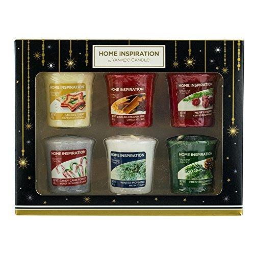 Yankee Candle Home Inspiration Votiv Kerzen Weihnachten Scents Geschenk-Set–6Pack