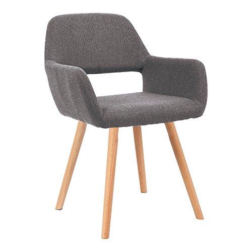 MCTECH® 4er Esszimmerstühle Besucher-Stuhl Esszimmerstuhl Wohnzimmerstuhl Stuhlgruppe Bürostuhl Konferenzstühle Küchenstuhl Armlehne (Grau)