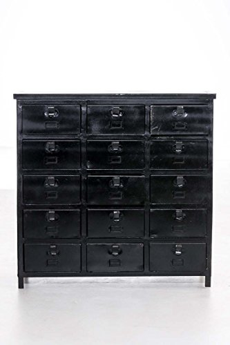 clp metall kommode brahmann 15 schubladen sideboard industrial design ca 90 x 35 cm h he 90. Black Bedroom Furniture Sets. Home Design Ideas