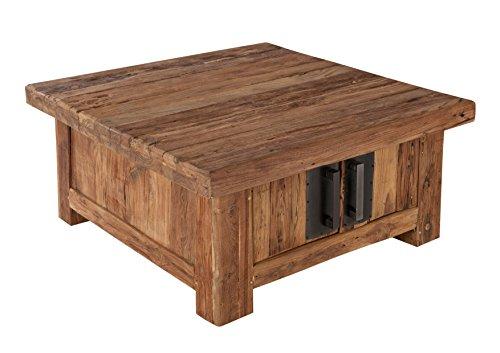 couchtisch truhe mit 4 t ren aus recyceltem teak holz. Black Bedroom Furniture Sets. Home Design Ideas