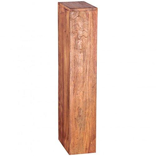 FineBuy CD Regal Massivholz Sheesham Standregal 90 cm hoch CD-Aufbewahrung 5 Fächer Bücherregal dunkel-braun Landhaus-Stil Design Büroregal freistehend 4 Böden 30 cm breit Echt-Holz Natur-Produkt