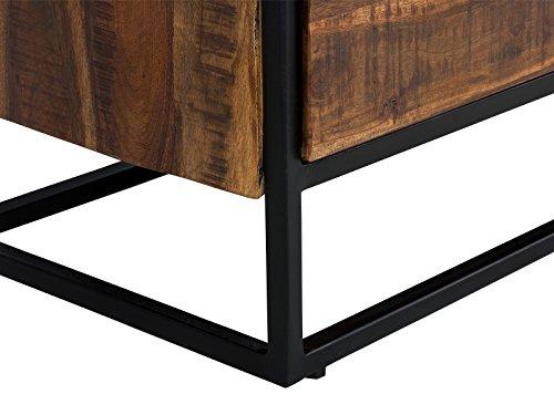 massivum oklahoma tv bank 2 schub akazie holz dunkel braun 40 x 120 x 60 cm. Black Bedroom Furniture Sets. Home Design Ideas