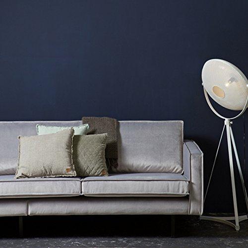 3 Sitzer Sofa RODEO Samt hellgrau Lounge Couch Garnitur Loungesofa Dreisitzer