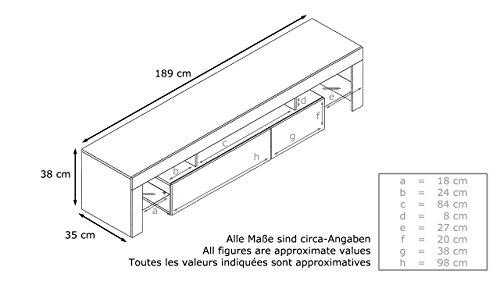 tv board lowboard lima v2 korpus in wei front in wei hochglanz skandinavische m bel. Black Bedroom Furniture Sets. Home Design Ideas