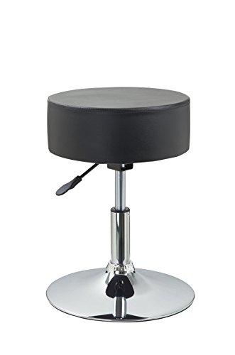 drehhocker sitzhocker schwarz hocker rund h henverstellbar. Black Bedroom Furniture Sets. Home Design Ideas