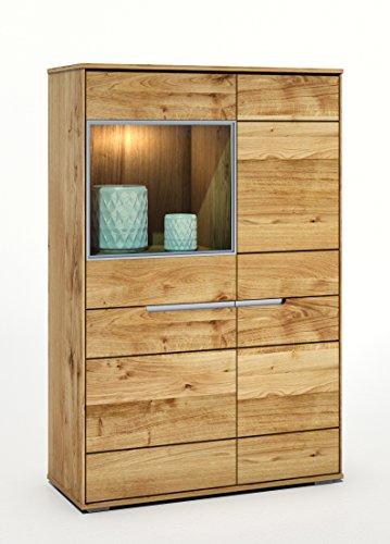vitrine wildeiche massiv ge lt mit durchgehenden lamellen slimline 2994 exsopo skandinavische. Black Bedroom Furniture Sets. Home Design Ideas