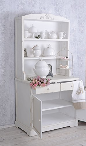 k chenbuffet weiss buffet k chenschrank shabby chic regal anrichte a b palazzo exclusiv. Black Bedroom Furniture Sets. Home Design Ideas